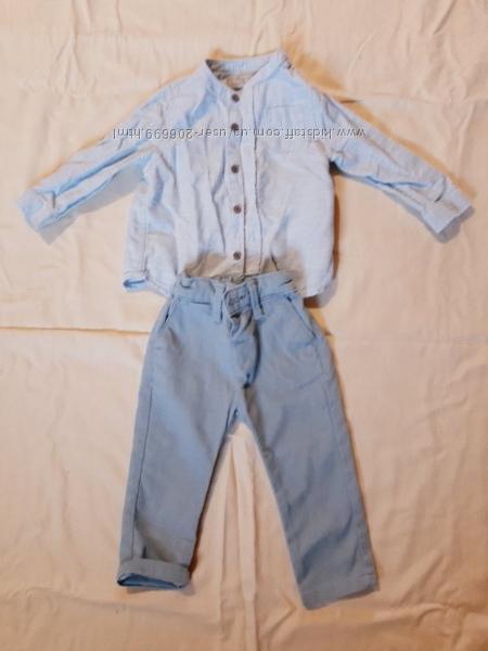 Рубашка и брюки для мальчика LS Waikiki  для садика мальчика голубого цвета