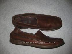 женские мокасины лоферы Ecco 37 р-р, кожаные