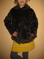 8-9 лет, шикарная шубка Zara для модницы
