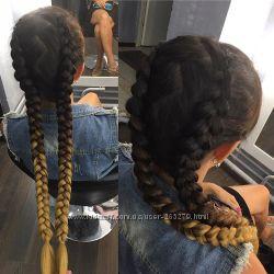 новый канекалон омбре, натуральный цвет коса, волосы, 100 гр