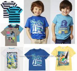 Фирменные футболочки для мальчиков H&M, Mothercare, George, F&F из Англии