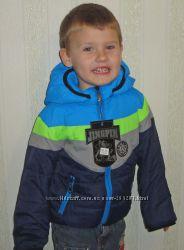 Красочные демисезонные куртки для мальчиков рост 92см, 110см