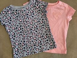 Яркие футболочки для девочки Carters,18М. Набор