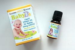 Жидкий витамин D3 для малышей California GOLD Nutrition, 10 мл