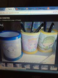Стаканчики для карандашей деткам, разные цвета