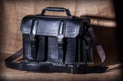 Кожаный портфель ручной работы