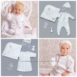 Комплект для крещения рубаха для мальчика, крыжма, шапочка, пинетки