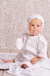 Комплект для крещения рубаха для мальчика, шапочка, пинетки