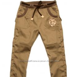 Стильные брюки чинас для мальчика джинсового типа