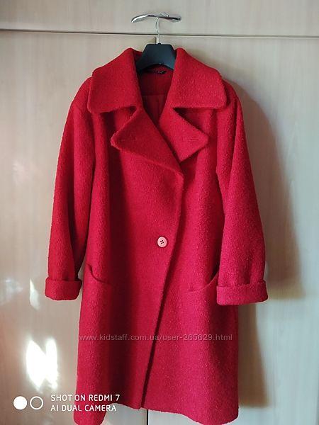 Шерстяное пальто oversize 44 р.
