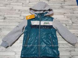 Крутецкая курточка с трикотажными рукавами Goldy р. 98-116