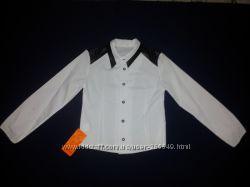 Модная польская рубашка с кожаными вставками р. 128-158
