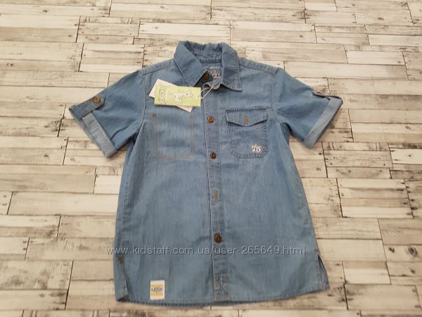 Суперская джинсовая рубашка Бемби р. 122-134