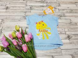 Милая футболочка Бемби р. 74-86