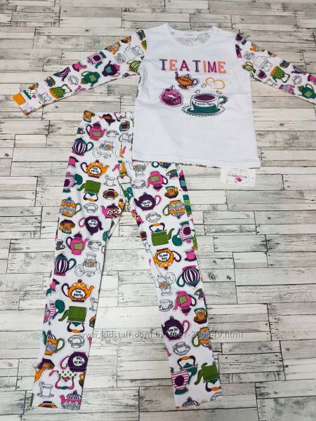 Красивая пижамка Фламинго р. 122-140