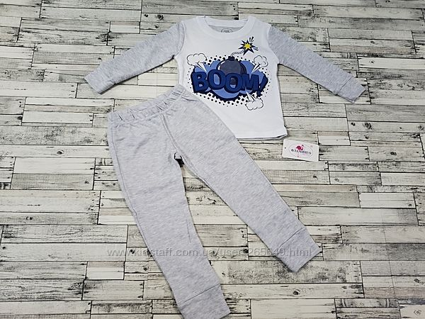 Прикольная пижамка Фламинго р.98