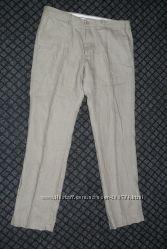 Льняные брюки наш 52-54 р  Германия новые
