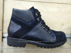 Кожаные деми ботинки для мальчика украинского производства