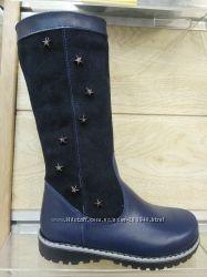 Кожаные сапожки для девочки украинского производства