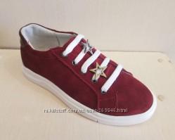 Кожаные кроссовки для девочки от украинского производителя