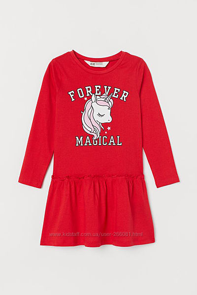 Платье для девочки h&m с единорожкой 1.5-2 г. плаття сукня з єдинорогом H&M