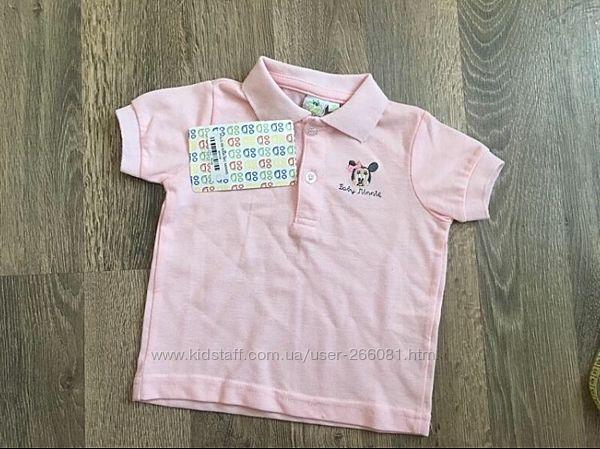 футболка, поло, минни, мінні, для девочки, 12-18 м, 1-2 г, cartoon kids