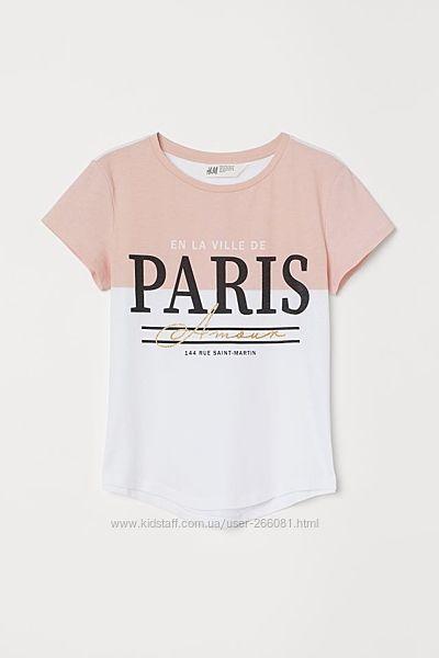 футболка, футболочка, на девочку, на дівчинку, футболки для девочек, h&m