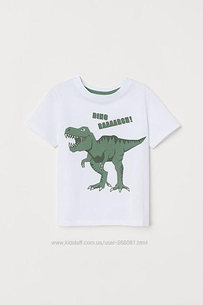 футболка для мальчика динозавр, футболки с динозаврами, динозавр, h&m