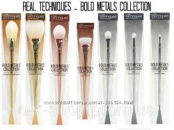 Профессиональные кисти для макияжа REAL TECHNIQUES Bold Metals Collection