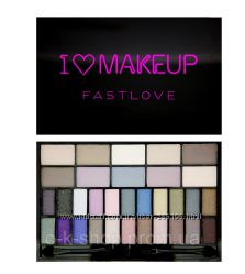 Палетка теней Makeup Revolution  I Heart Makeup Theme Palette - Fast Love