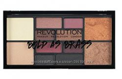 Палетка теней Makeup Revolution bold as brass