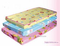 Матрасик для детской кроватки  2-х  и 3-х слойный кокос - поролон