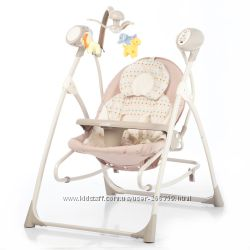 Детская качель-шезлонг-колыбель с пультом Tilly Nanny 0005, музыкой,