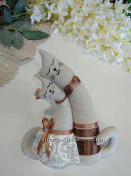 Коты-неразлучники, 8 марта, влюбленные подарок, тильда