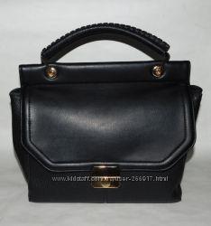 Женская черная сумка с застежкой Next