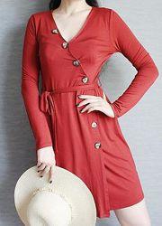 Платье халат на запах длины миди с актуальными пуговицами и поясом от f&f