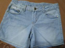 Шорты джинсовые H&M, рост 140см