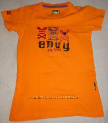 Ярко-оранжевая футболка Envy, рост до 134-140см