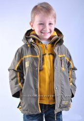 Куртка демисезонная с кофтой в подарок 92-122
