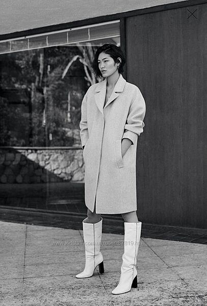Пальто Mango из неструктурированной шерсти, размер L