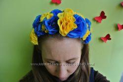 Обруч на голову цветочный