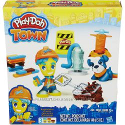 Плей До Город Дорожный рабочий и пес Play-Doh Town Road Worker and Pup
