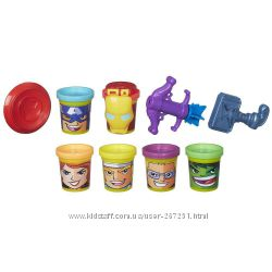 Play doh Marvel Heroes Assemble with Can-Heads