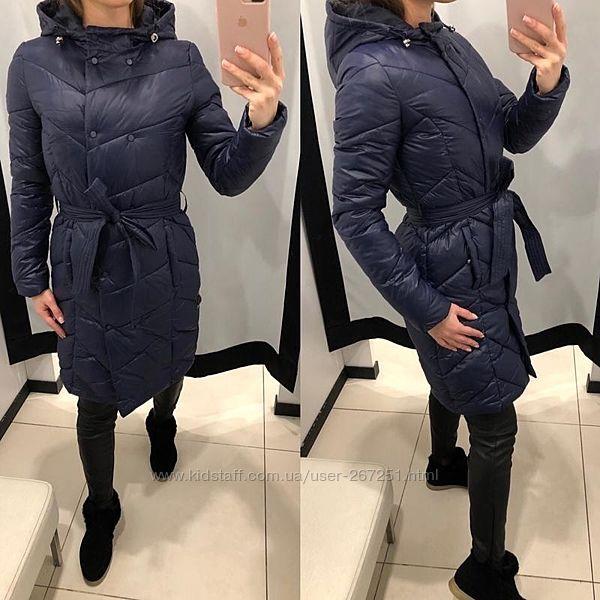 Демисезонные пальто на халлофайбере Mohito. Германия