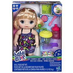 Baby Alive Sweet Spoonfuls Пупс кукла с блендером блондинка