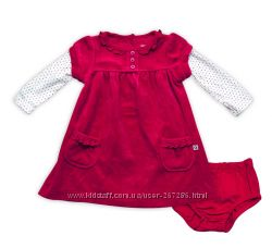 Бархатное платье для маленькой принцессы Carters на 6 месяцев. Новое