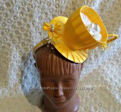 Шляпка-чашка на обруче чайная вечеринка