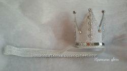 Серебряная корона на повязке