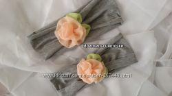 Трикотажные повязки с нежнейшими цветами