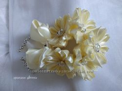 Шикарное украшение на гульку цвет айвори